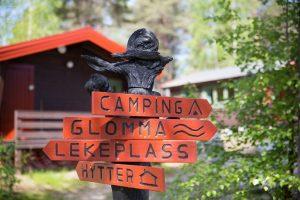 Skilt på campingplassen