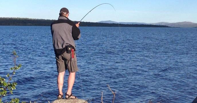 Peter med fisk