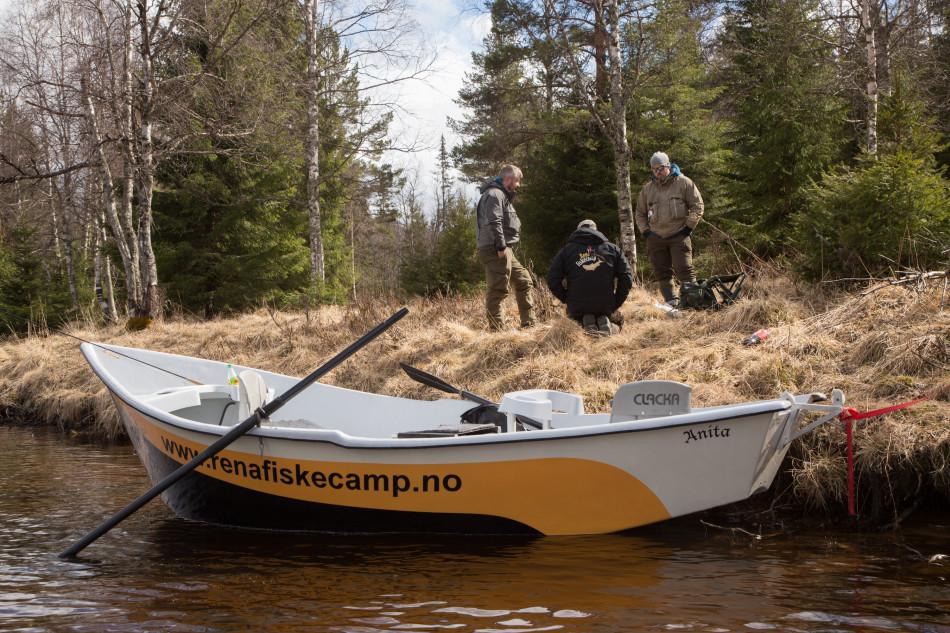 Drift boat fishing the Rena river - Fishspot