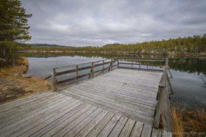 Fiskebrygge på Krokjønna